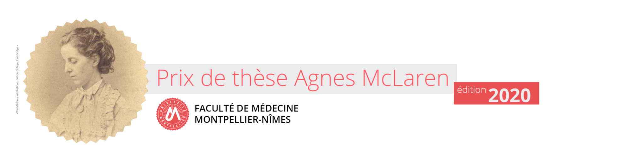 Prix de thèse Agnes McLaren 2020