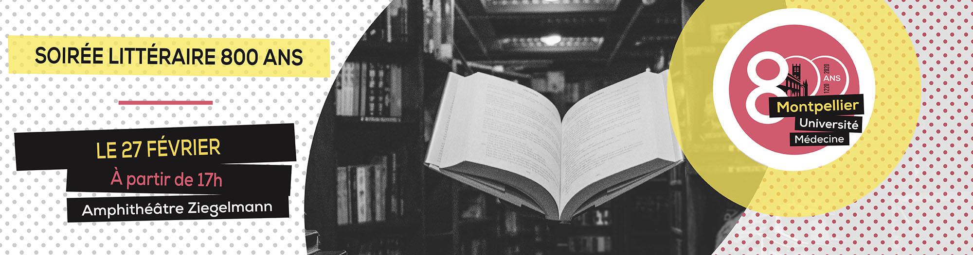 Soirée littéraire pour les 800 ans de la faculté de médecine